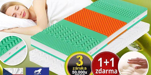 Matrace Viscopur Greenday s paměťovou pěnou 1+1 zdarma Velikost: 180x200 cm - 1ks (sleva 50%)