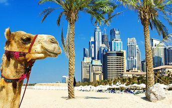 7denní letecký zájezd do Dubaje s ubytováním v hotelu a snídaněmi pro 1 osobu