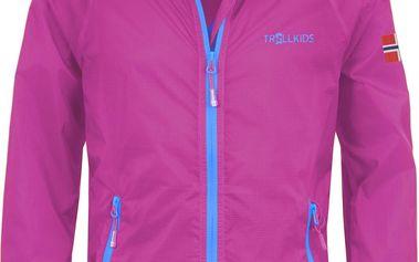 Dívčí běžecká bunda - růžová
