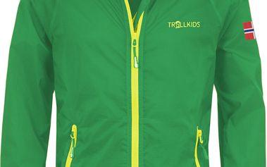 Dětská běžecká bunda - zelená