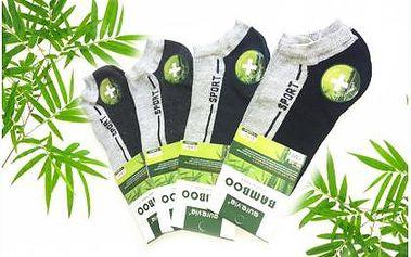 Osm párů ponožek s bambusovým vláknem. Kotníčkové ponožky se hodí do práce i na sport.