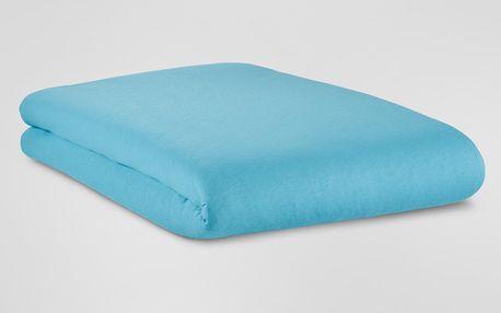 Tchibo, Žerzejové napínací prostěradlo, na matrace o rozměrech 90 x 190 až 100 x 200 cm, světle modré 90 x 190 až 100 x 200 cm