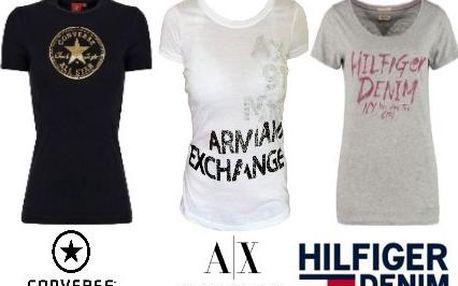 Dámská značková trička Converse, Armani a Tommy Hilfiger
