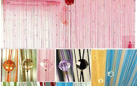 Provázkový závěs s korálky - více barev