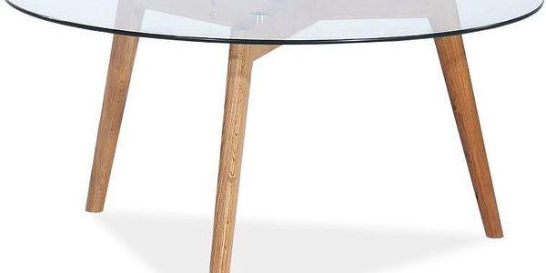 Odkládací stolek Milan se skleněnou deskou