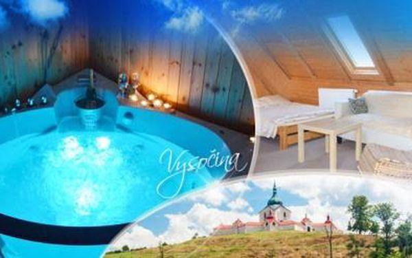 Vysočina s WELLNESS na 3 nebo 4 dny pro DVA! V ceně POLOPENZE, vířivka, sauna a masáž! Nedaleko aquapark!