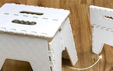 Multifunkční skládací stolička: pro děti i dospělé. Šetří prostor.