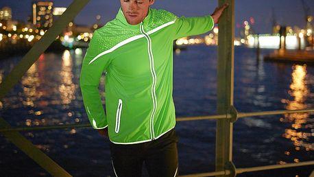 Tchibo, Reflexní běžecká bunda, svítivě zelená S (44/46)