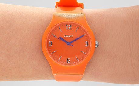 """Tchibo, Náramkové hodinky """"Letní zábava"""", průměr cca 35 mm, oranžové"""