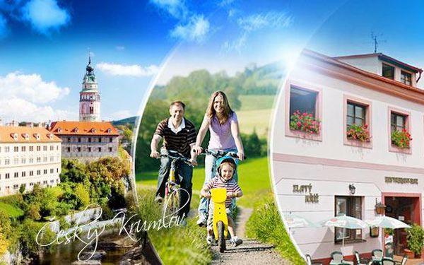RODINNÝ pobyt nedaleko města ČESKÝ KRUMLOV! 3 až 6 dní pro DVA vč. POLOPENZE a vína + dítě do 10 let zdarma!