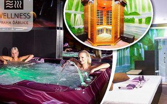 Privátní vířivka a sauna až pro 4 osoby v relaxačním centru v Ďáblicích. Otevřeno nonstop!