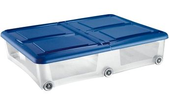 Úložný box Tontarelli s víkem, 80x60x18,5cm, 61l, modrý