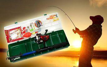 Sada rybářských potřeb pro začátečníky v plastovém kufříku
