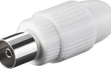 Antenní konektor PremiumCord IEC přímý-F, 75 Ohm 40ks