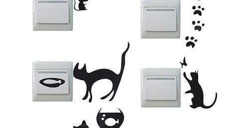 Samolepky kočiček na vypínače