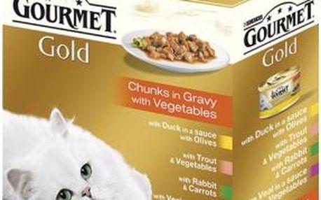 GOURMET Gold Multipack Exotic kousky masa ve šťávě 680g