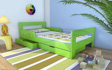 Kvalitní dětská postel z masivu borovice