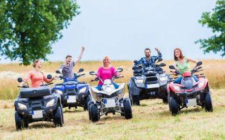 Adrenalinová letní projížďka na čtyřkolce až pro dvě osoby