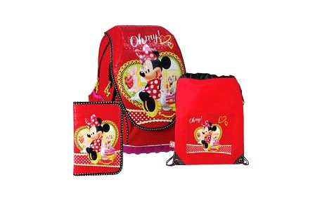 SUNCE ABB Set Disney Minnie červený