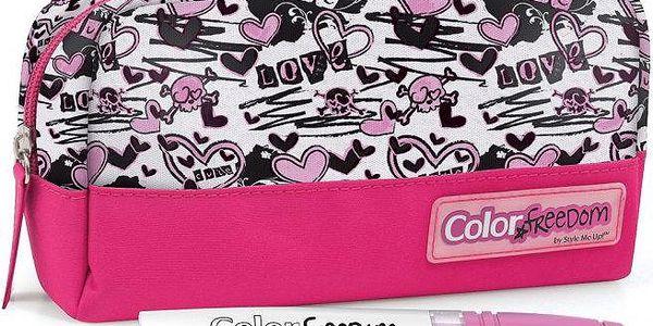 Wooky Color Freedom penál růžový