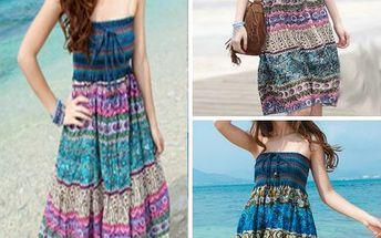 Letní orientální šaty a sukně v jednom!