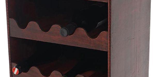 Stojan na 16 lahví vína Shabby Colonial 66 cm, hnědá - doprava zdarma!