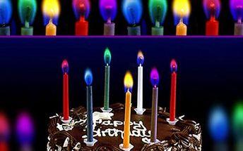 Barevně hořící svíčky - oživte narozeninový dort netradičními svíčkami!
