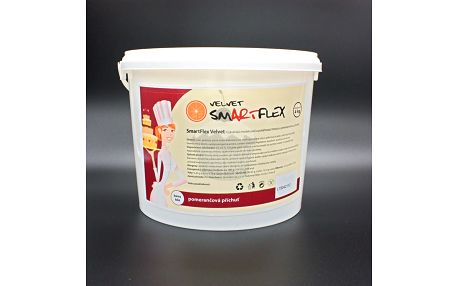 Smartflex velvet pomeranč 4kg - potahovací hmota