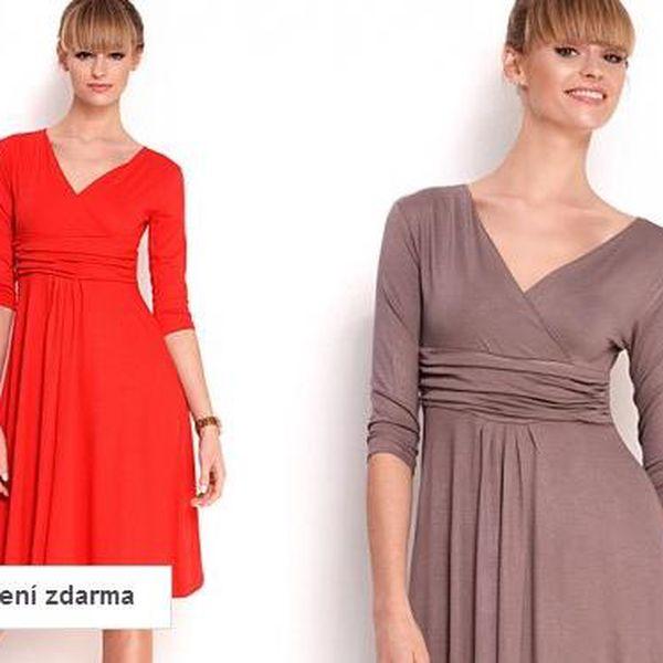 Dámské šaty s tříčtvrtečním rukávem