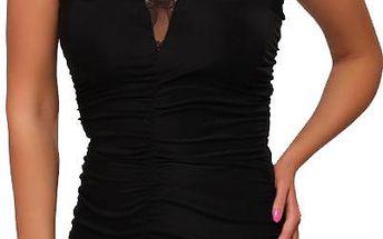 Dámské šaty B-Fashion s krajkou, černé