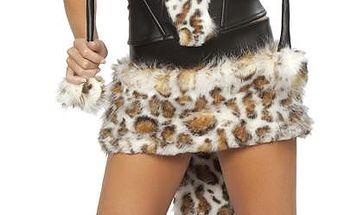 Korzet se sukní B-Fashion, leopardí