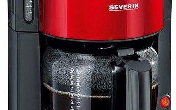 Kávovar Severin KA 9731 překapávací, červený