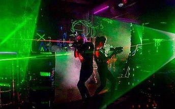Akční Laser Game pro jednoho nebo dva hráče