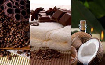 Kurz masáže - výhodný balíček +3 (čokoládová, kávová a kokosová masáž)