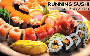Running sushi All you can eat v Karlových Varech! Neomezená konzumace sushi! Platnost do srpna 2016!