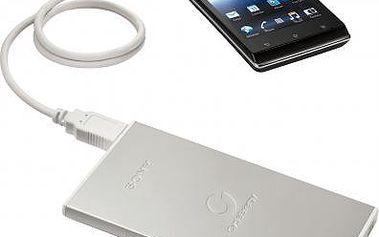 Sony CP-F2LSA, přenosný zdroj USB 7000mAh pro chytré telefony, stříbrný