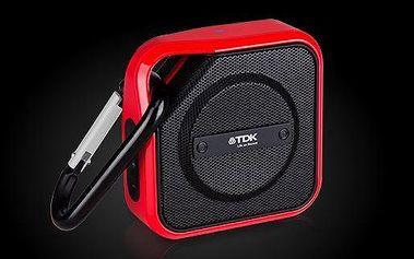 TDK A12, TREK Micro, bezdrátový vlhkuvzdorný reproduktor, bluetooth, červený