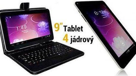 """Výkonný 4jádrový 9"""" tablet s klávesnicí za 1990 Kč!"""