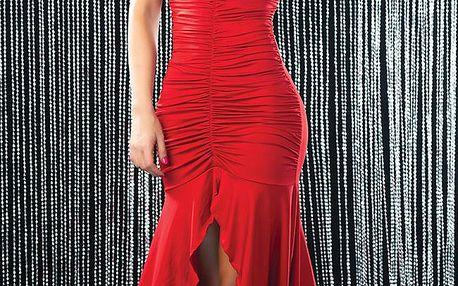 Dámské dlouhé šaty, červené