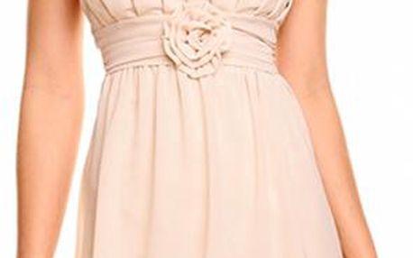 Dámské koktejlové šaty B-Fashion, béžové