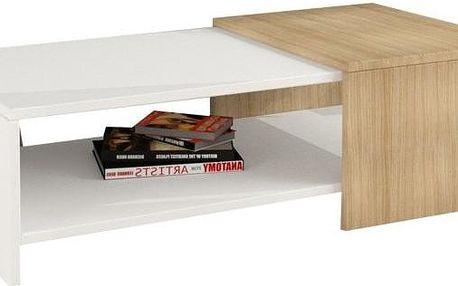 Konferenční stolek Yalo, bílý - doprava zdarma!
