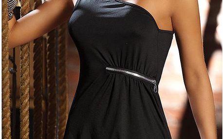 Dámské šaty a tanga, černé, Uni