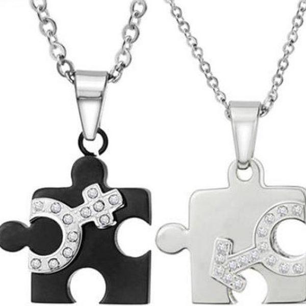 Náhrdelník s přívěskem Puzzle pro ni a pro něj
