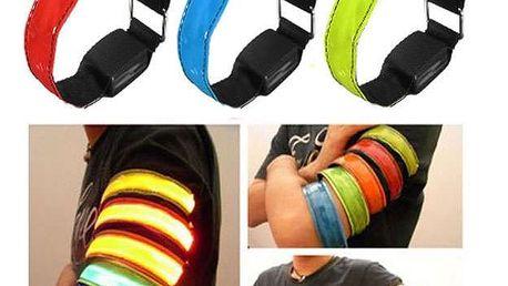 LED svítící reflexní pásek na ruku - 5 barev