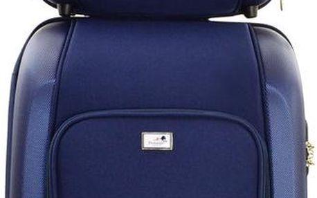 Sada tašky na kolečkách a příruční tašky Vanity Blue, 46 + 12 l - doprava zdarma!