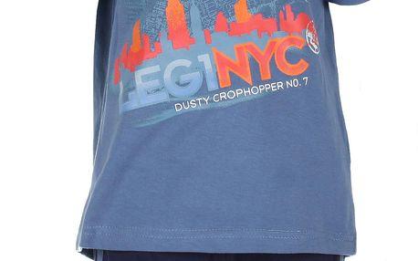 Chlapecký set trička a šortek Letadla - modrý