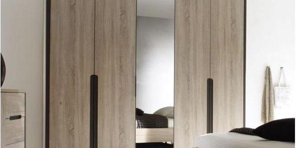 5-dveřová šatní skříň se zrcadlem Miller