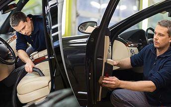 Tepování interiéru vozu včetně kufru a mezidveřních prostor