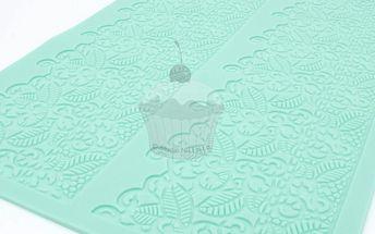 Silikonová šablona na jedlou krajku Baroko 1