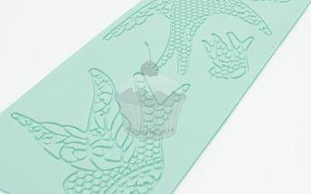 Silikonová šablona na jedlou krajku Holubice